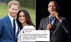 The Obama family took a moment on Monday to congratulate Prince Harry and Meghan Markle on their engagement while President Donald Trump hasn't said anything publicly to the couple.
