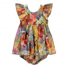 Robe Soie Fleurs   Bloomer Chestnut Multicoloured