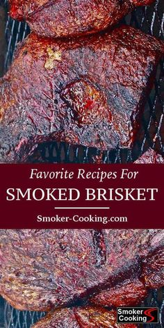 Try These Smoked Brisket Recipes And Be The Neighborhood Brisket King! From all the smoked brisket recipes found here, I'm sure you'll find one that you'll enjoy trying. Whether you smoke a whole brisket or a trimmed brisket flat, you'll surely love it! Smoker Grill Recipes, Beef Brisket Recipes, Smoked Meat Recipes, Smoker Cooking, Cooking Brisket, Rib Recipes, Grilling Recipes, Barbecue Recipes, Pulled Pork Smoker Recipes