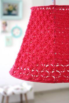 Crochet Lamp Shade by babytogo on Etsy