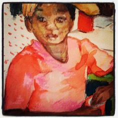 """Photo by tuckerdemps """"Kids play"""", original, watercolor.  #impressionist #art"""