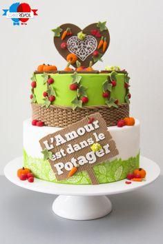 NOS CRÉATIONS - Potager d'amour Wedding cake - CAKE RÉVOL - Cake Design - Nantes