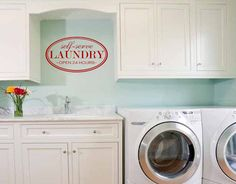 Laundry Room Sticker: Self Serve Laundry Open 24 by MyVinylDecor