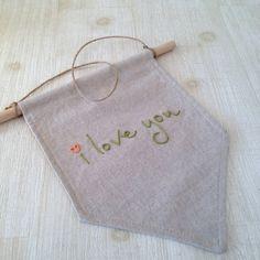 <3 pennant for nursery $25 Etsy