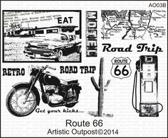 Stamps - Artistic Outpost Route 66