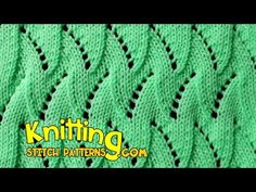 Flame Chevron, Lace Knitting How to knit the Eyelet and Flame Chevron. The lace pattern creates a really cool flow and is easy to learn once you get going. ++ For detailed written instructions, see: . Lace Knitting Stitches, Lace Knitting Patterns, Lace Patterns, Baby Knitting, Stitch Patterns, Butterfly Stitches, Honeycomb Stitch, Knitting Videos, How To Purl Knit