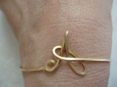 Initial Wire Cuff Bracelet- will be getting this soon! Says they're only $24 :)