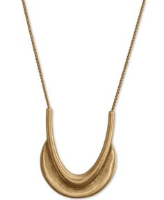 A shapely and curving crescent pendant finishes the long chain of this modern necklace from Lucky Brand. Fashion Jewelry Necklaces, Jewelry Watches, Long Pendant Necklace, Gold Necklace, Necklace Online, Handbag Accessories, Fashion Watches, Lucky Brand, Band