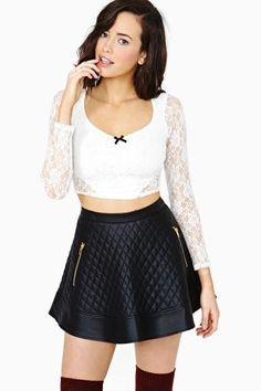 Sweetheart Lace Crop Top