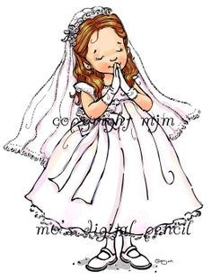 First Communion girl s - Mo's Digital Pencil