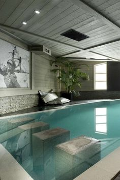 Pool inside the house See more inside pool designe ideas here: http://www.pinterest.com/homedsgnideas/inside-pool-home-design-ideas/