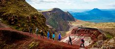Take a tour to the top of Mount Tarawera in Rotorua. Sparkling Waters, New Perspective, Pacific Ocean, Natural Disasters, Tour Guide, Rafting, Wonders Of The World, Walks, Climbing