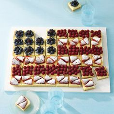 4th of July Party Food-great idea to make self-serving easier.    Party in the USA: 100+ Recipes for the Fourth of July #4thofJuly #independenceDay #redwhiteandblue