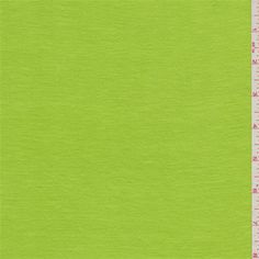 Solidbright limegreen. This lightweight rayon knit fabric has a soft hand and good drape.Compare to $10.00/yd