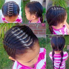 Hair style for little girls Cute Hairstyles For Kids, Baby Girl Hairstyles, Pretty Hairstyles, Braided Hairstyles, Cool Hair Designs, Natural Hair Styles, Short Hair Styles, Toddler Hair, Short Curly Hair