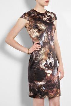 Wolf Print Cap Sleeve Dress by McQ Alexander McQueen