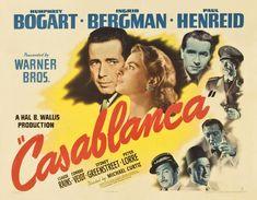 Casablanca directed by Michael Curtiz, starring Humphrey Bogart, Ingrid Bergman, and Paul Henreid Ingrid Bergman, Humphrey Bogart, Mini Poster, A4 Poster, Poster Maker, Something's Gotta Give, Diane Keaton, Old Movies, Vintage Movies