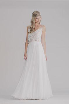 LILY GOWN bohemian wedding dress boho wedding by RISHbridalSHOP