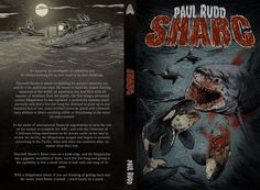 The original cover for Sharc. A host of blood and men in Zodiacs hunting down a Megalodon.