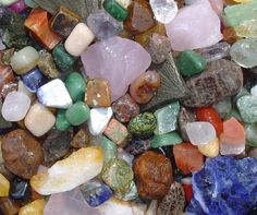 """Ask us about our new """"rushing river sluice"""" where kids & adults pan for Gems & Minerals and our EXCLUSIVE MINING BLOCKS! Just look at just some of the really cool Rocks, Minerals and Genuine GEMSTONES your Students Can find:"""