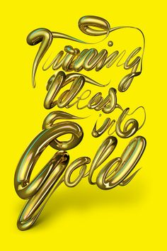 Turning ideas into gold by Ed Dye, via Behance