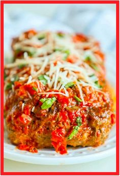 The Best Easy Baked Italian Meatloaf Recipe is a tried and true family favorite bursting with rich meaty, garlic flavor and baked in a marinara sauce for a meatloaf dinner that doesn't dry out and is low carb and gluten free! Italian Meatloaf, Easy Meatloaf, Meatloaf Recipes, Pork Recipes, Noodle Recipes, Sausage Recipes, Chicken Recipes, Recipies, Schnitzel Hawaii