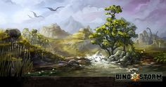 Dino Storm Concept Art 2 (DinoStorm.com - the free browser game with Cowboys. Dinosaurs. And Laserguns!)