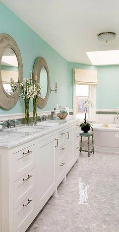 142 Best Bathroom Inspiration Images Behr Paint Colors Bathroom - Green-bathroom-tile