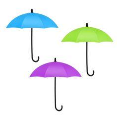 Wall Hooks-Cute Mini Umbrella Shape Hook Wall Decorations