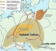 The Hallstatt Culture and its trade connections Pagan Beliefs, Royal Family Trees, Historical Maps, Science, Iron Age, Cartography, History Facts, World History, Ancient History