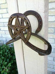 Horseshoe/star rope or hose holder by RockinLDesign on Etsy