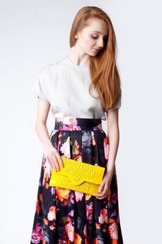 Hey, I found this really awesome Etsy listing at https://www.etsy.com/listing/177896618/vegan-clutch-bag-yellow-vinyl-clutch