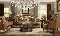 Formal Luxury Classic Style 3 Piece Living Room Set HD-9344