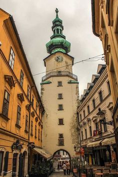 Discount Airfares Through The USA To Germany - Cost-effective Travel World Wide Old-Town-Tower-St-Michaels-Bratislava-Things-To-Do Wanderlust Travel, Stuff To Do, Things To Do, Bratislava Slovakia, Overseas Travel, Most Beautiful Cities, St Michael, European Travel, Scouts