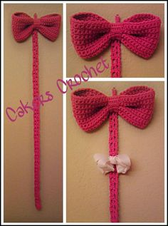 Oh so cute! Big bow bow holder by Cakers Crochet