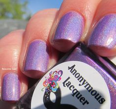 Anonymous Lacquer purple custom for Hella Holo Customs group,outdoors