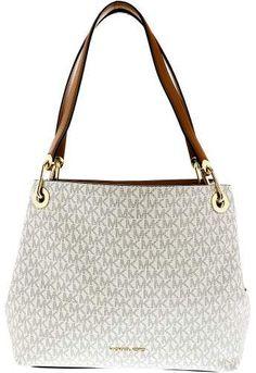 ~CLICK TO BUY~Michael Kors Women s Large Raven Tote Top-Handle Bag -  Vanilla  purse  MK  fashion  handbag  buyable b4758f6712
