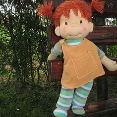 Pippi the toddler 😊#pippilongstocking #toddlerdoll #ecofriendly #wooldoll #puppenwaldorf#poupeewaldorf #bemkadolls