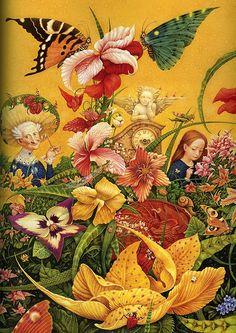 "Illustration by Vladislav Erko by sofi01, via Flickr.  From ""Snow Queen"" - fairy tale by H.-C. Andersen"