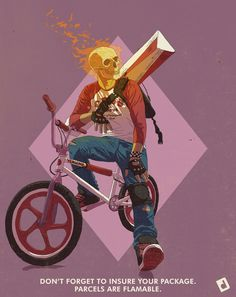 What if Ghost Rider had to get a real job?