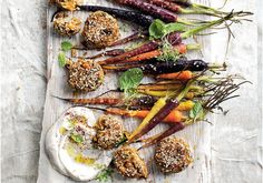 Looking for a delicious vegan recipe? These Pumpkin, Chickpea & Brown Rice Balls from Donna Hay's new cook book are perfect for dinner parties! Pumpkin Recipes, Fall Recipes, Jackie Rueda, Roasted Baby Carrots, Donna Hay Recipes, Coriander Cilantro, Baby Finger Foods, Zucchini, Rice Balls