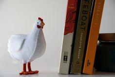 spirited chicken  felt miniature by Lane33andaHalf on Etsy