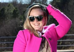 Bright Fuchsia Coat with neutrals & a Mary Tyler Moore moment