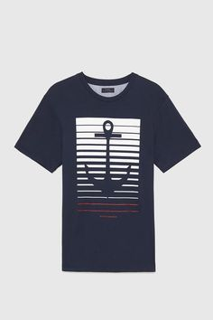 Anchor-T-shirt , This t-shirt is Made To Order, one by one printed so we can control the quality. T Shirt Logo Design, Tee Design, Shirt Designs, Cut Shirts, Printed Shirts, Polo Shirt Outfits, Le Polo, Wear Store, Direct To Garment Printer