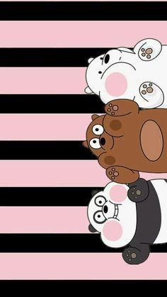 We bara bear Cute Panda Wallpaper, Funny Iphone Wallpaper, Disney Phone Wallpaper, Bear Wallpaper, Kawaii Wallpaper, Cute Wallpaper Backgrounds, Galaxy Wallpaper, Wallpaper Samsung, We Bare Bears Wallpapers