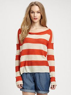 Burberry Brit - Alpaca Nautical Stripe Sweater - Saks.com