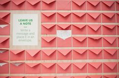 {diy Projects} Message Note Card Wall.. great idea.. read on your first anniversary