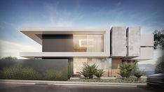 Modern House Facades, Modern Exterior House Designs, Modern Villa Design, Dream House Exterior, Modern Architecture House, Exterior Design, Architecture Building Design, Home Building Design, Facade Design