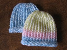 Kelley's Yarns: Lickety Split Loom-Knit Newborn Hats