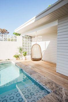 modern boho pool situation
